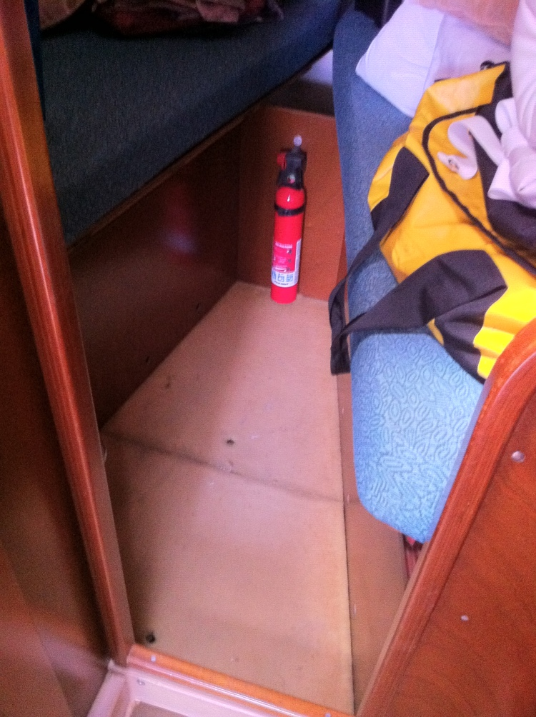 Forward Stateroom flooring ready for Loncoin installation - Cerulean